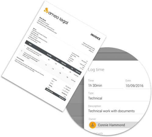 Time sheets and Invoicing