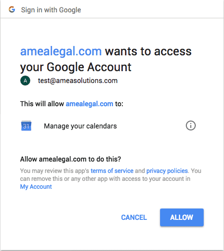 Amberlo connected to google account - blog image