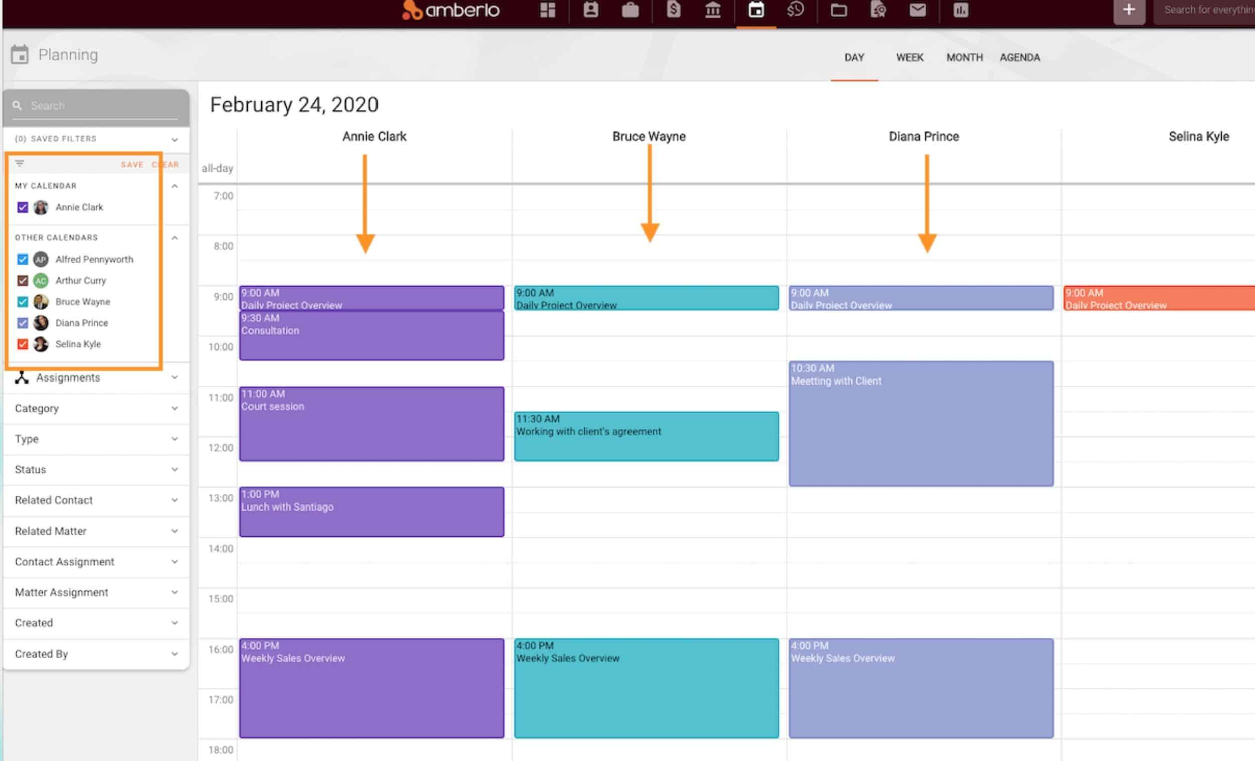 Amberlo Calendar Dashboard