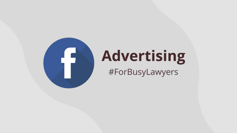 Facebook marketing for lawyers - cover image