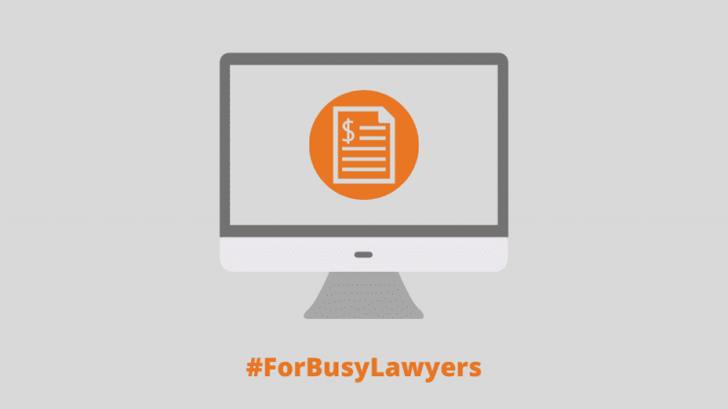 Billing software for lawyers