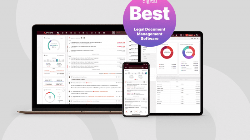 Amberlo - the best legal document management software blog image